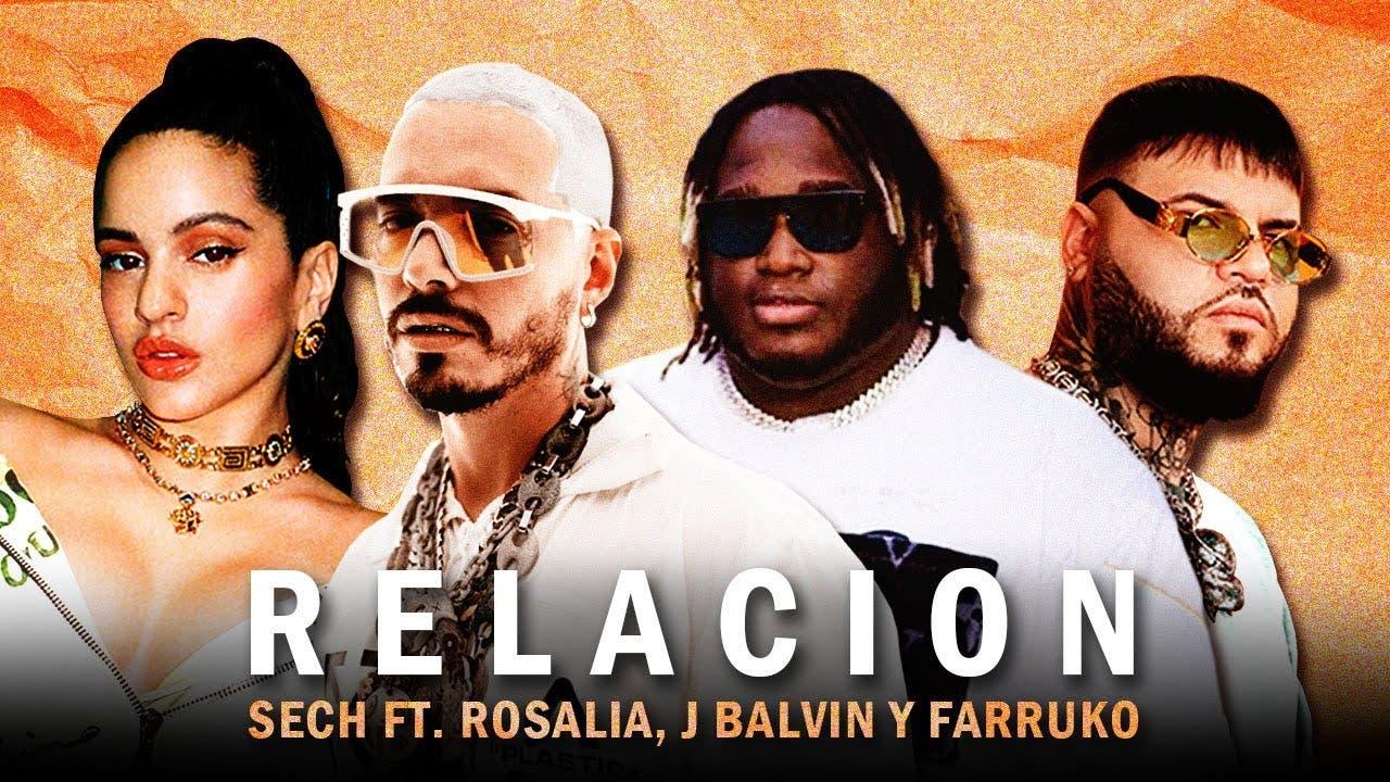 Rosalía, Daddy Yankee, J Balvin y Farruko juntos en remix de «Relación» de Sech