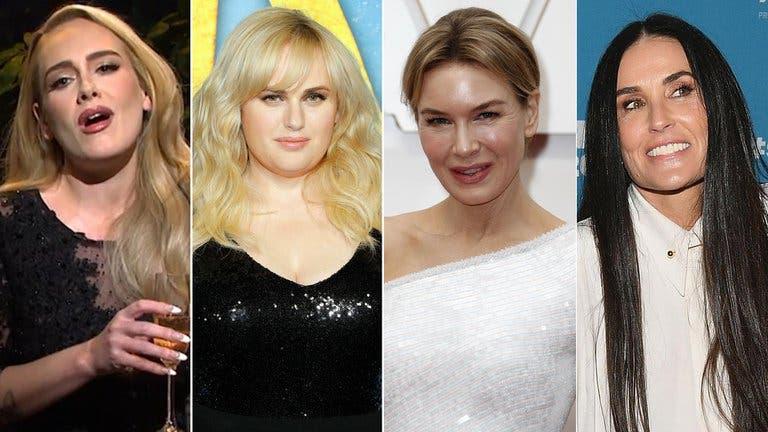 Las  dietas milagrosas de artistas como Adele, Rebel Wilson, Renée Zellweger y Demi Moore