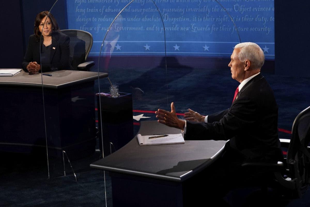 El aborto y vacuna del Covid-19 generaron los choques más fuertes del debate entre Kamala Harris y Mike Pence