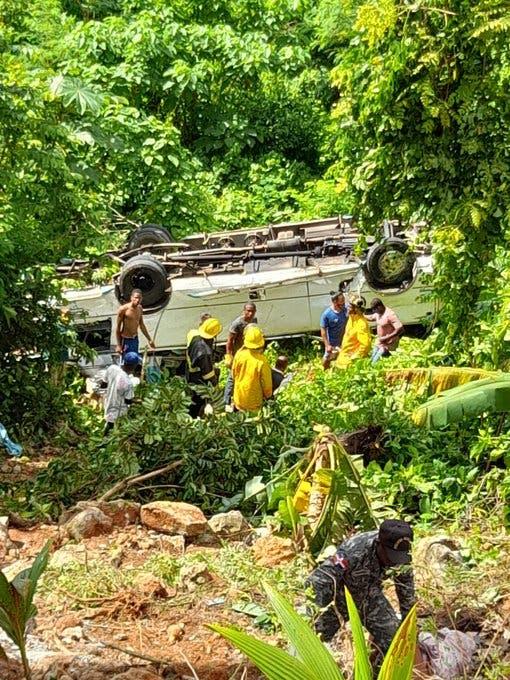 Al menos 17 turistas heridos durante accidente de tránsito en Samaná