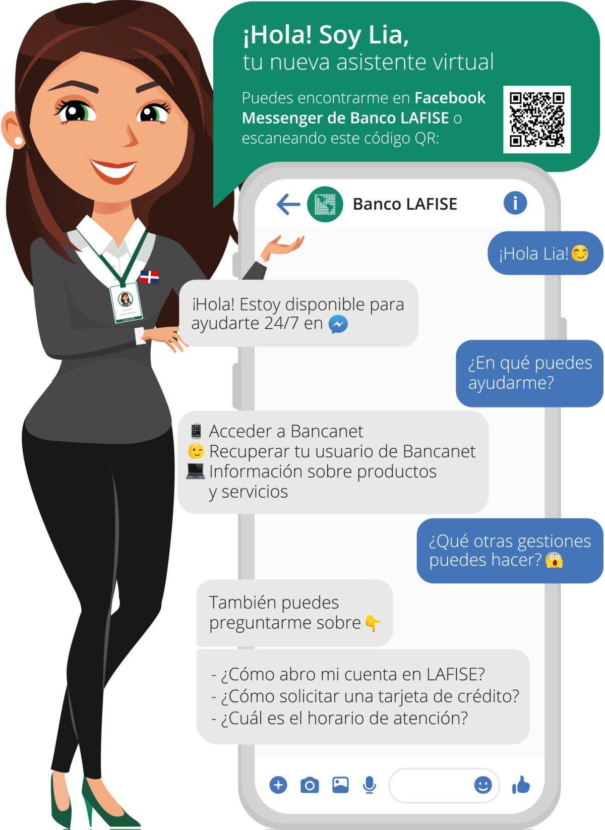 Banco LAFISE presenta a Lía, su nueva asistente virtual