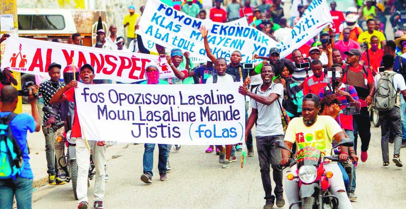 Estudiantes haitianos protestan en calles contra ola de secuestros