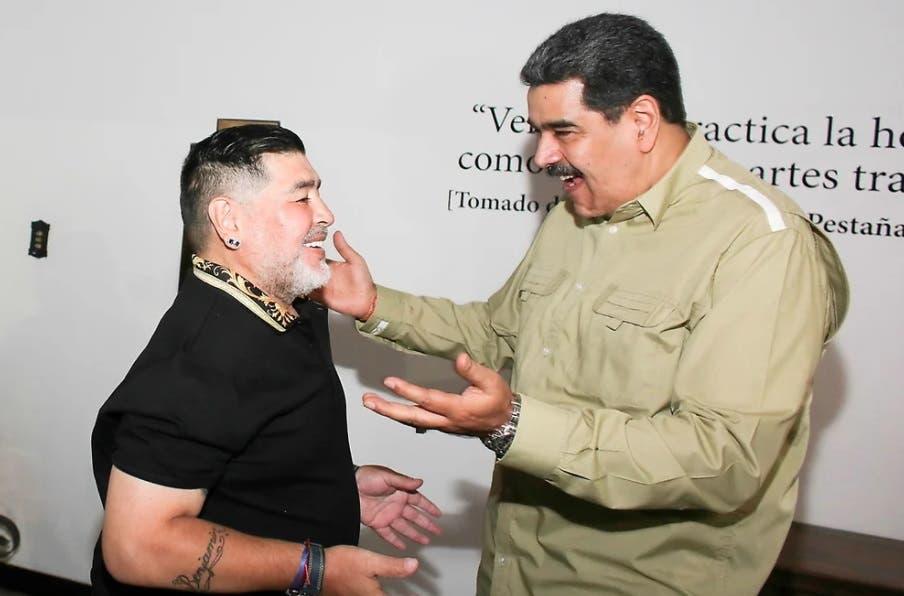 Maduro: » Maradona nos ayudó en cosas secretas, para traer alimentos para el pueblo de Venezuela»