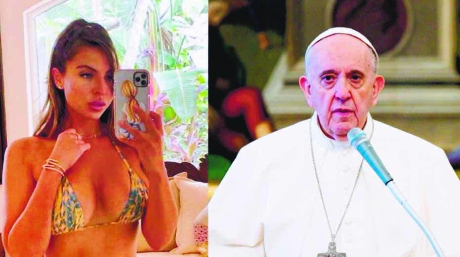 """Indagan el """"me gusta"""" de cuenta papa Instagram a modelo"""