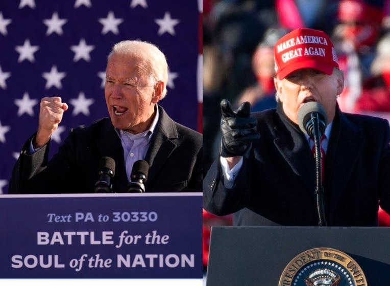 Biden se pone a la cabeza en Georgia y se acerca a Trump en Pensilvania