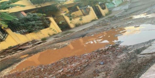 Residentes de Villa Faro denuncian mal estado de sus calles