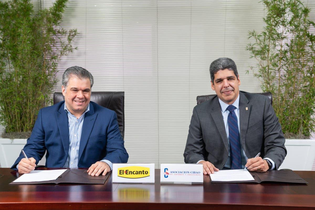 Asociación Cibao y El Encanto firman acuerdo para desarrollar tarjeta de marca compartida