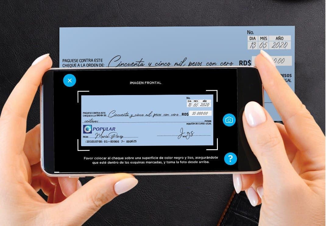 Clientes del Popular pueden depositar cheques y adquirir su token digital