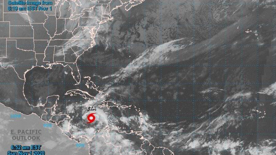 Se forma tormenta tropical Eta en el Caribe