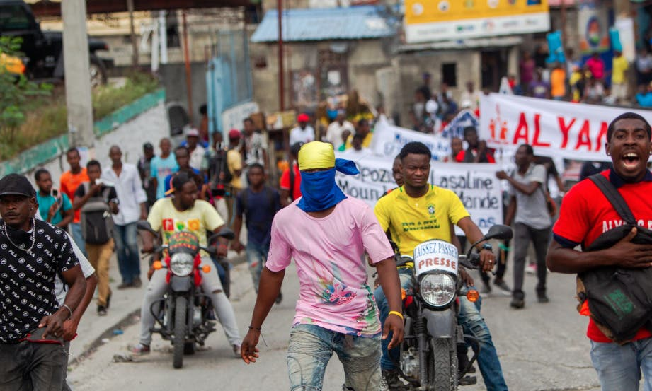 Haitianos vuelven a pedir renuncia de Jovenel  Moise ante embajada EEUU
