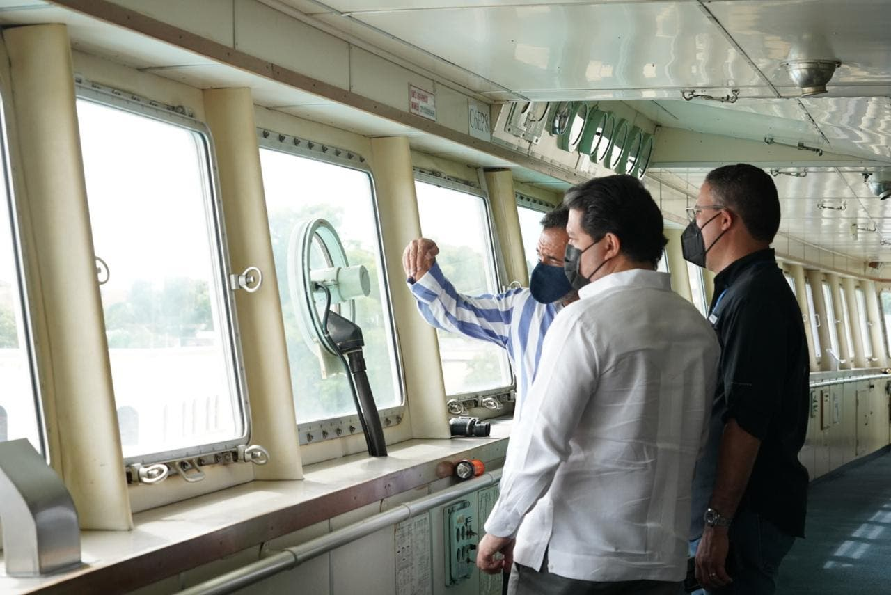 Directivos de APORDOM recorren instalaciones de Ferries del Caribe tras reapertura de cruceros