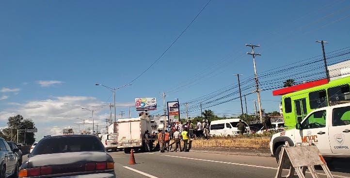 Se registra accidente de tránsito entre dos camiones en Los Frailes II