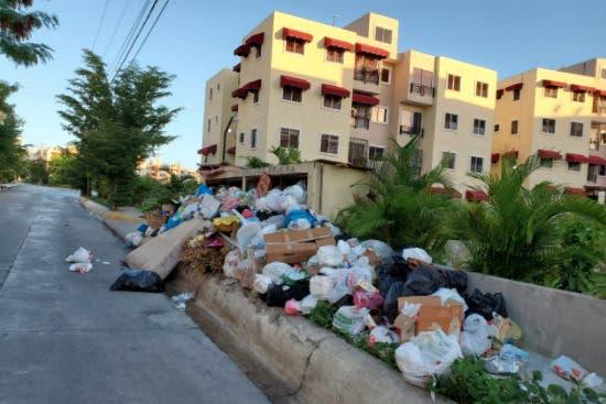 Cúmulo de basura se agrava en residencial Carmen Renata III en Pantoja