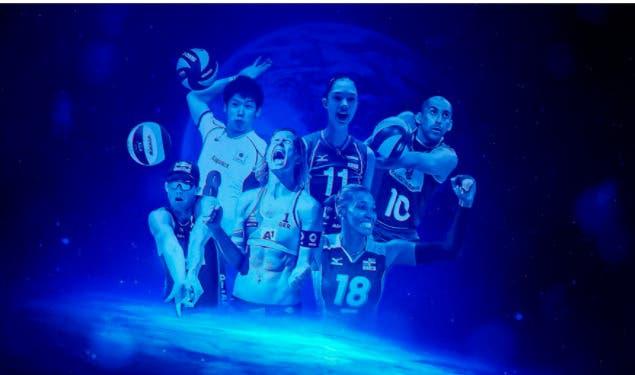 Roster 100 para mostrar estrellas de voleibol y voleibol playa