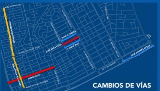 Calles que cambiarán de sentido desde hoy en el Polígono Central de Santo Domingo