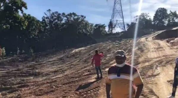 Impedimento de salida y pago de 500 mil pesos para hombre que cortó árboles en La Vega