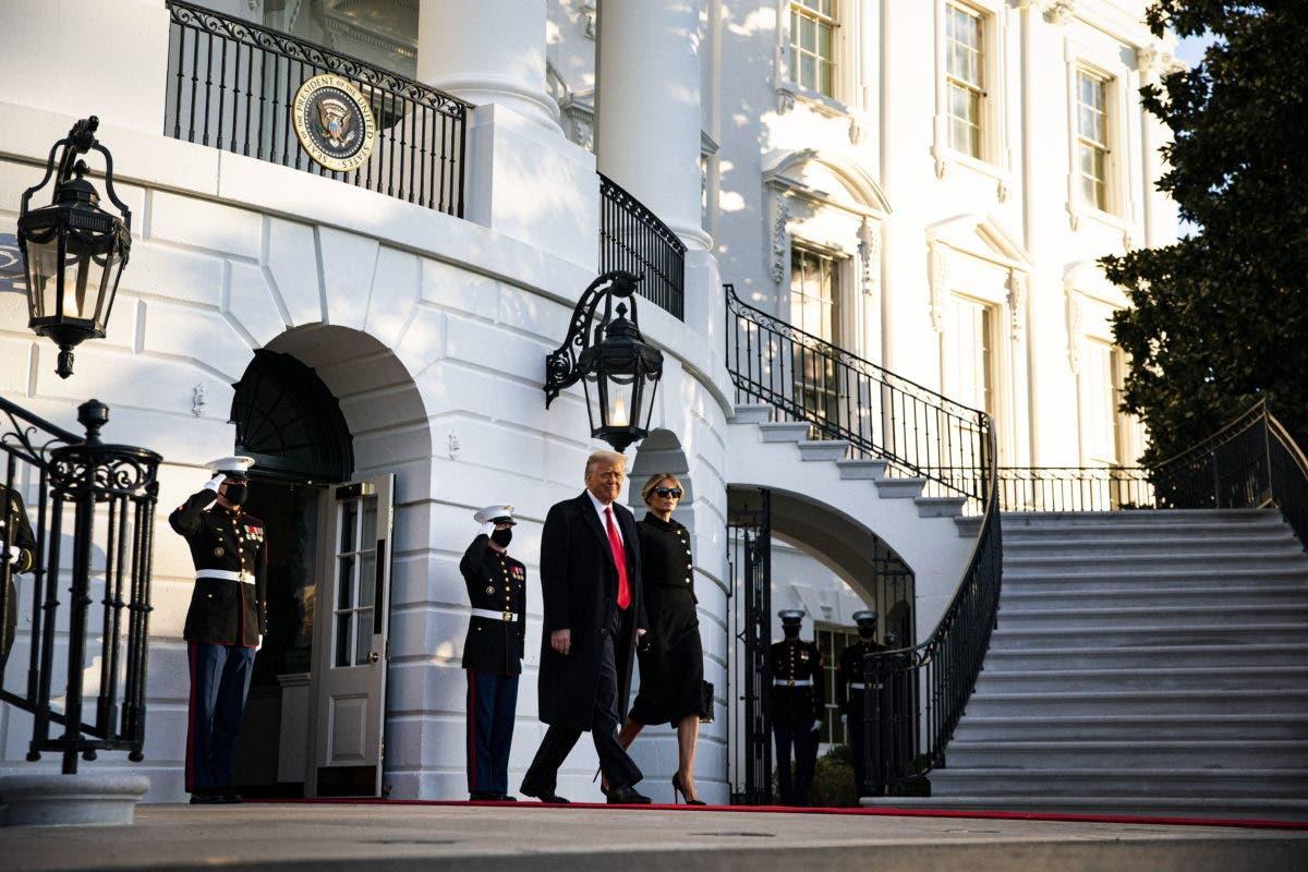 "Donald Trump, en su adiós: ""Estaremos de vuelta de algún modo»"