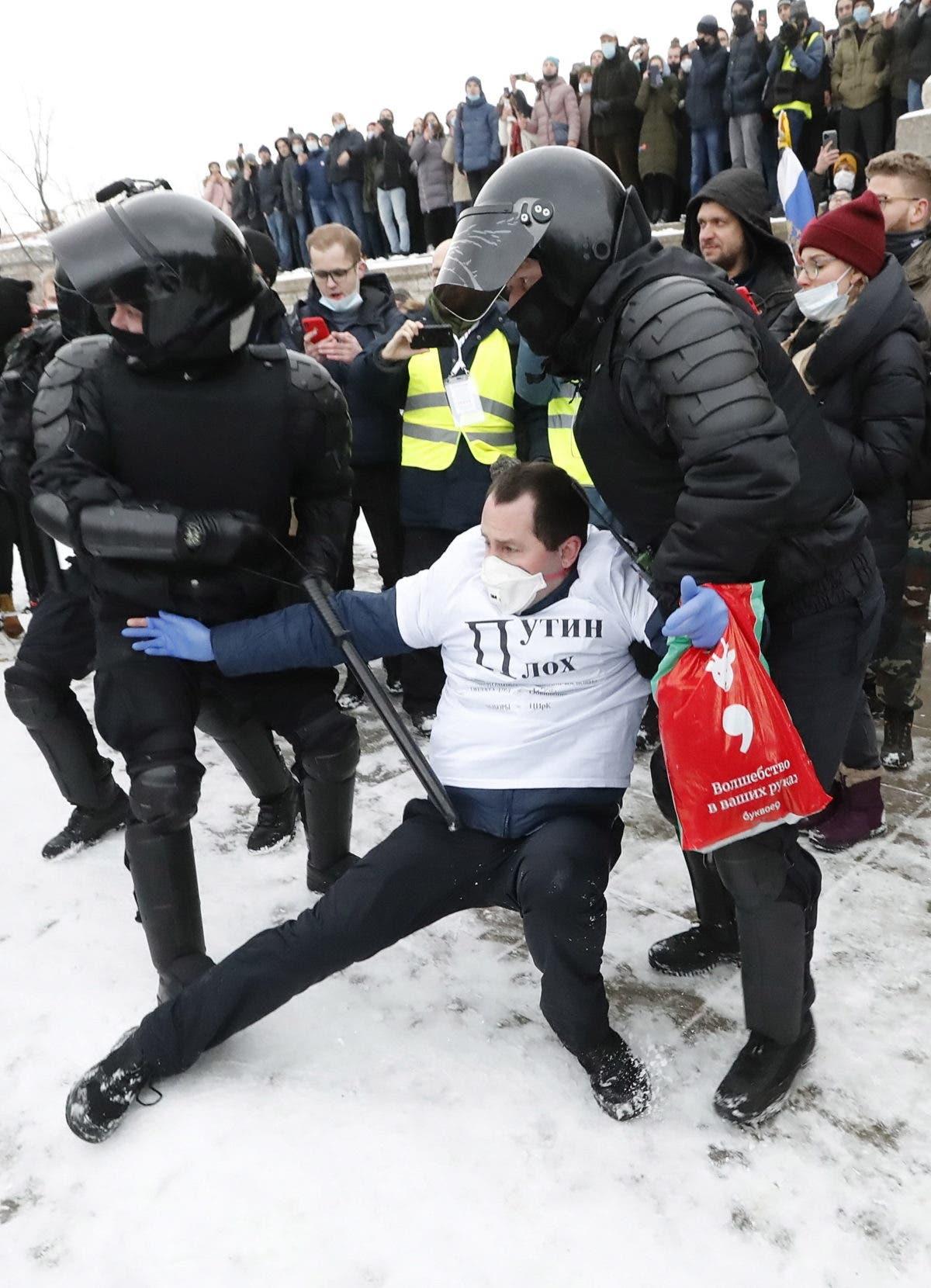 Rusia: más de 1.600 detenidos en marchas en apoyo a  Alexei Navalny