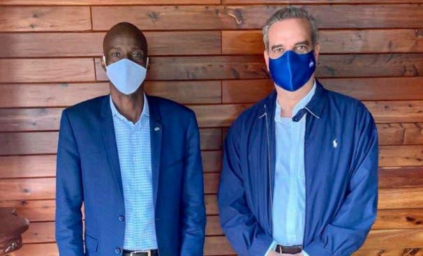 Luis Abinader sostiene reunión con presidente de Haití Jovenel Moise
