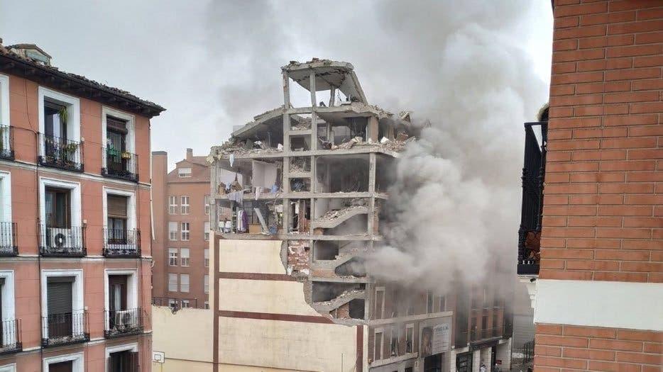 Fuerte explosión en el centro de Madrid