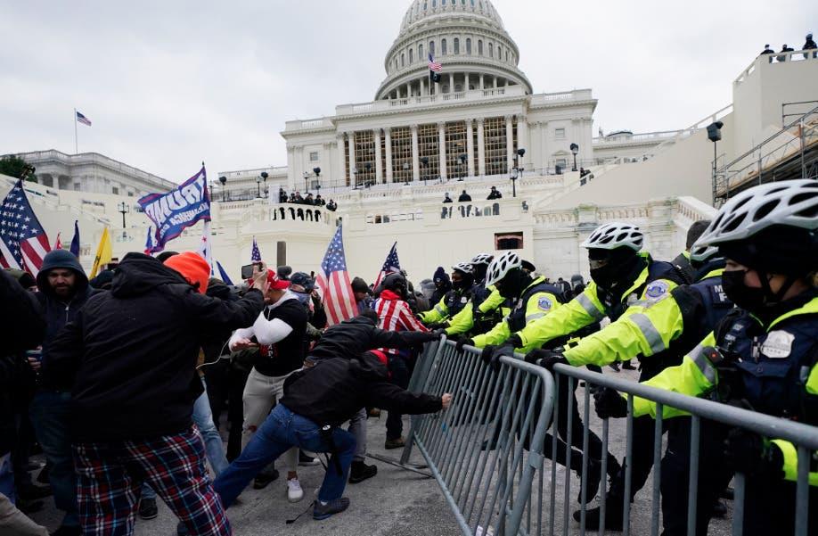Muere un policía del Capitolio tras asalto al Congreso de EEUU; suman cinco