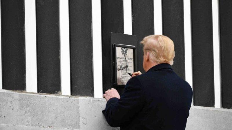 Cuánto se construyó del muro de Trump en frontera con México que Biden mandó parar