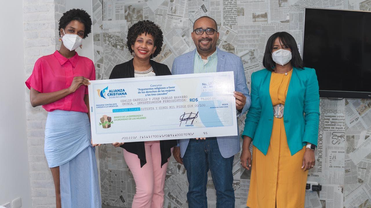 Alianza Cristiana Dominicana entrega premios a ganadores de primer concurso a favor de las tres causales del aborto