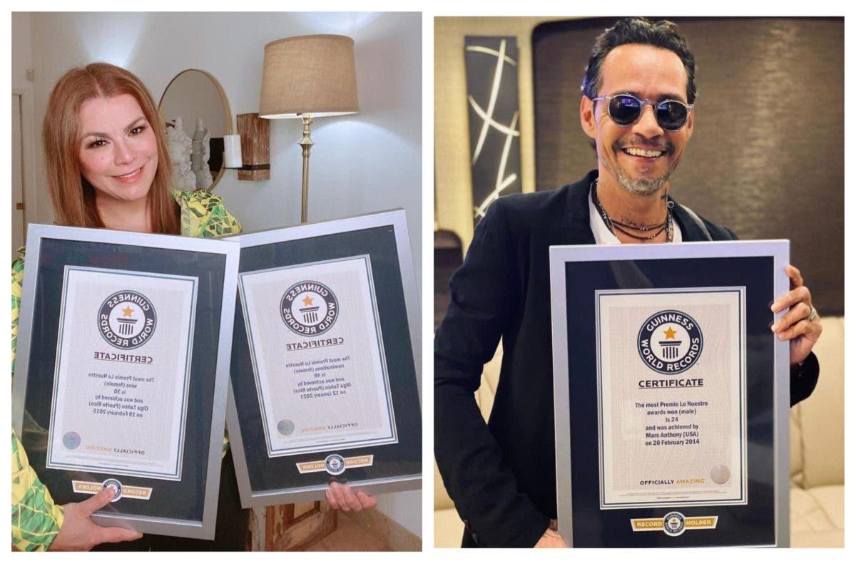 Marc Anthony y Olga Tañón reciben Récord Guinness