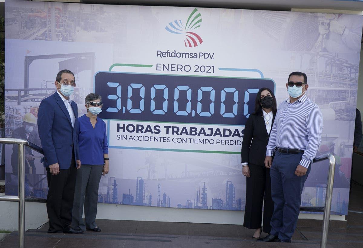Refidomsa PDV alcanza hito de 3 millones de horas sin accidentes laborales