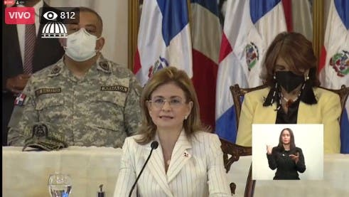 Vicepresidenta Raquel Peña explica cómo será la jornada de vacunación