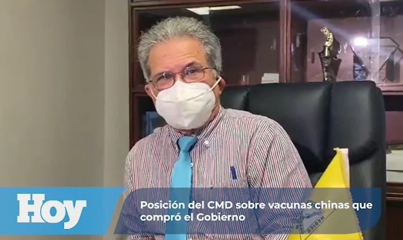 Al presidente del CMD le preocupa adquisición por parte del gobierno de vacuna china Sinovac