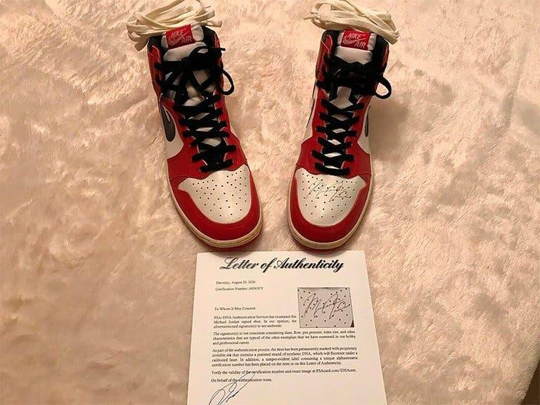 Este es el precio de  Air Jordan 1, primeras zapatillas que Michael Jordan usó en la NBA