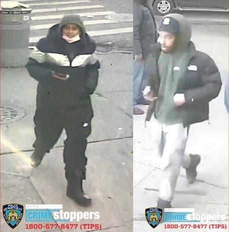 Policía NY persigue hombres apuñalaron hispano en el Alto Manhattan