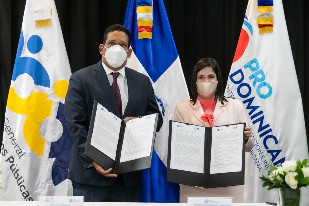ProDominicana y Contrataciones Públicas firman acuerdo de cooperación interinstitucional