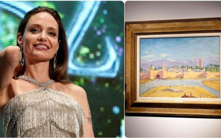 Angelina Jolie vende un cuadro que Churchill regaló a Franklin D. Roosevelt