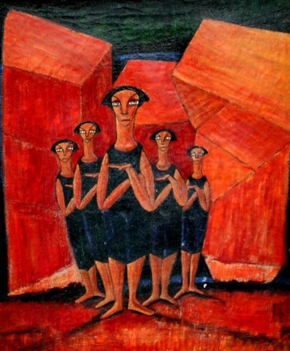 Paul Giudicelli Caminando mano a mano con Kandinsky y Mondrian