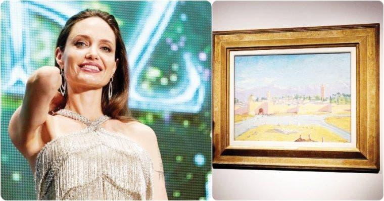 Angelina Jolie vende un cuadro de Churchill por 9,6 millones de euros