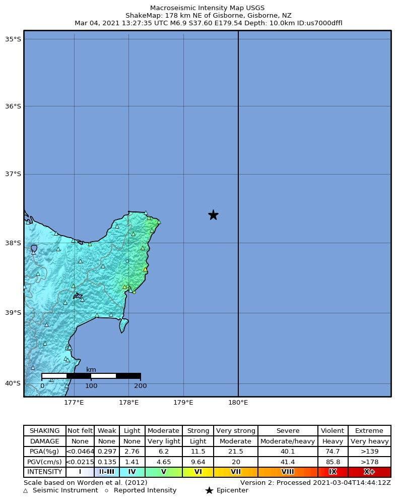 Alerta de tsunami por un terremoto de magnitud 7,3 en Nueva Zelanda