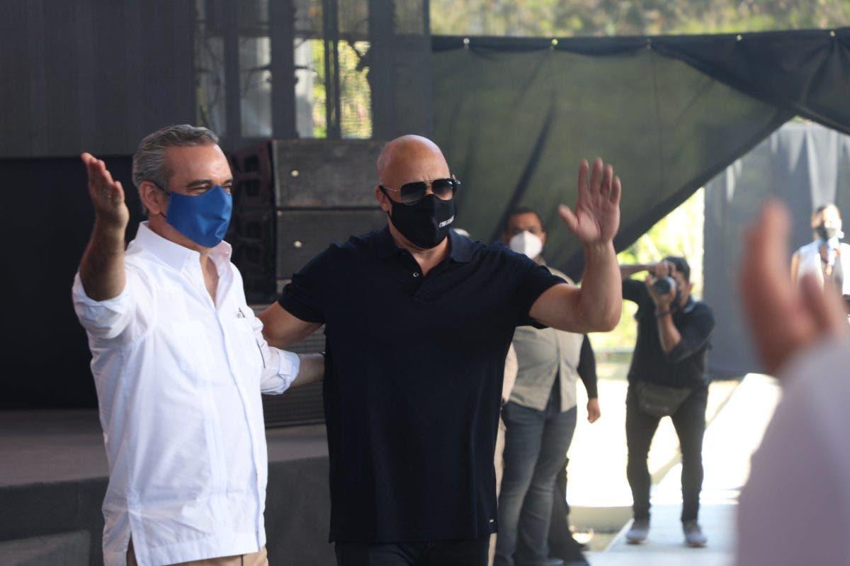 Abinader anuncia construcción de estudio de cine en Puerto Plata bajo dirección de Vin Diesel
