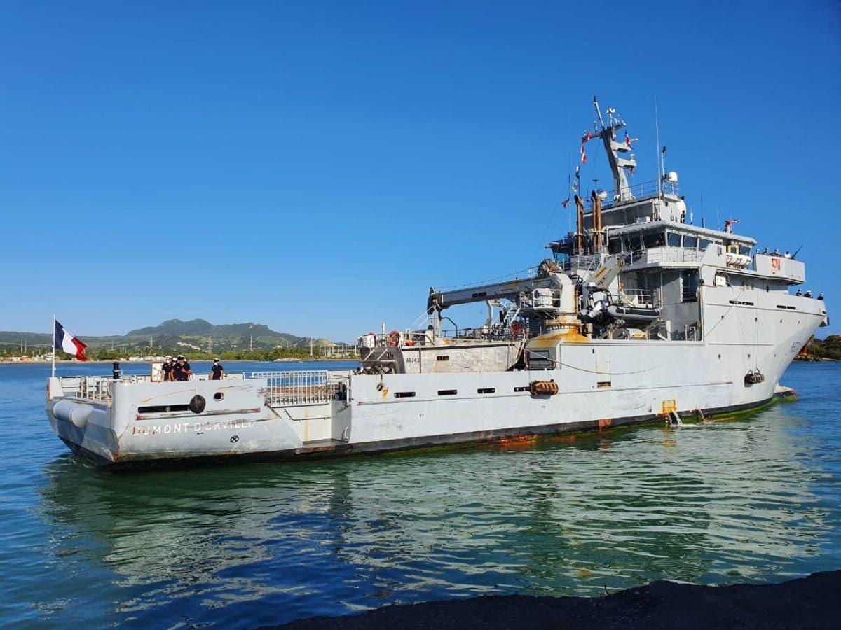 "Buque francés ""Dumont D´Urville"" atraca en Puerto Plata"