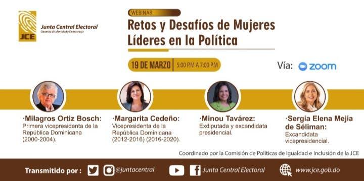 Margarita Cedeño, Milagros Ortiz Bosch, Minou Tavárez  y Sergia Elena contarán si sus partidos fueron  plataformas ideales para  sus carreras