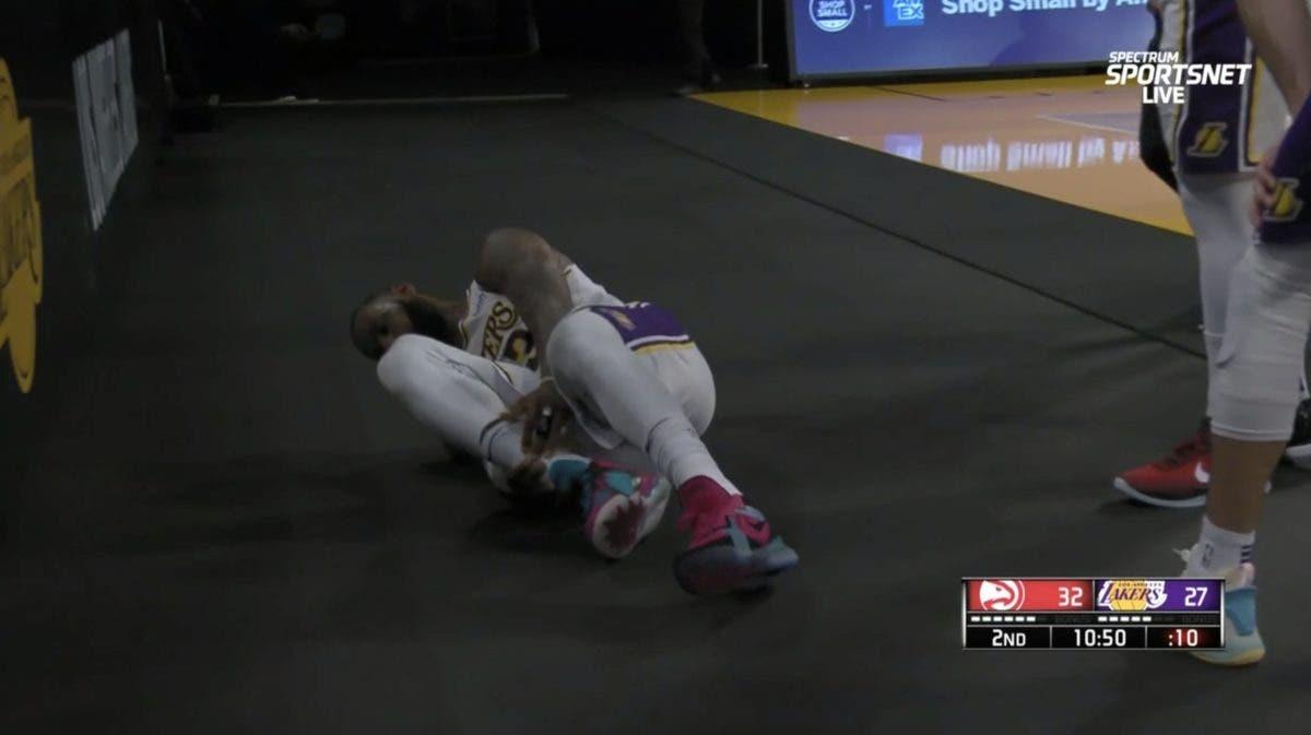 Video: Así se lesionó LeBron James ante los Hawks de Atlanta