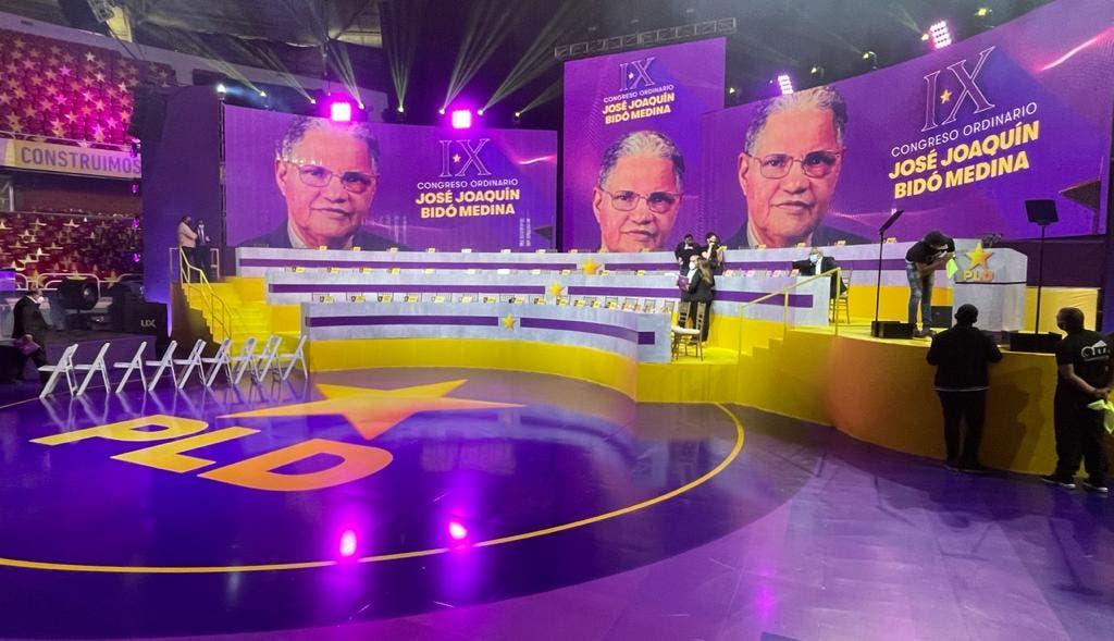El escenario para juramentar al Comité Político del PLD bajo el mando de Danilo ya está listo