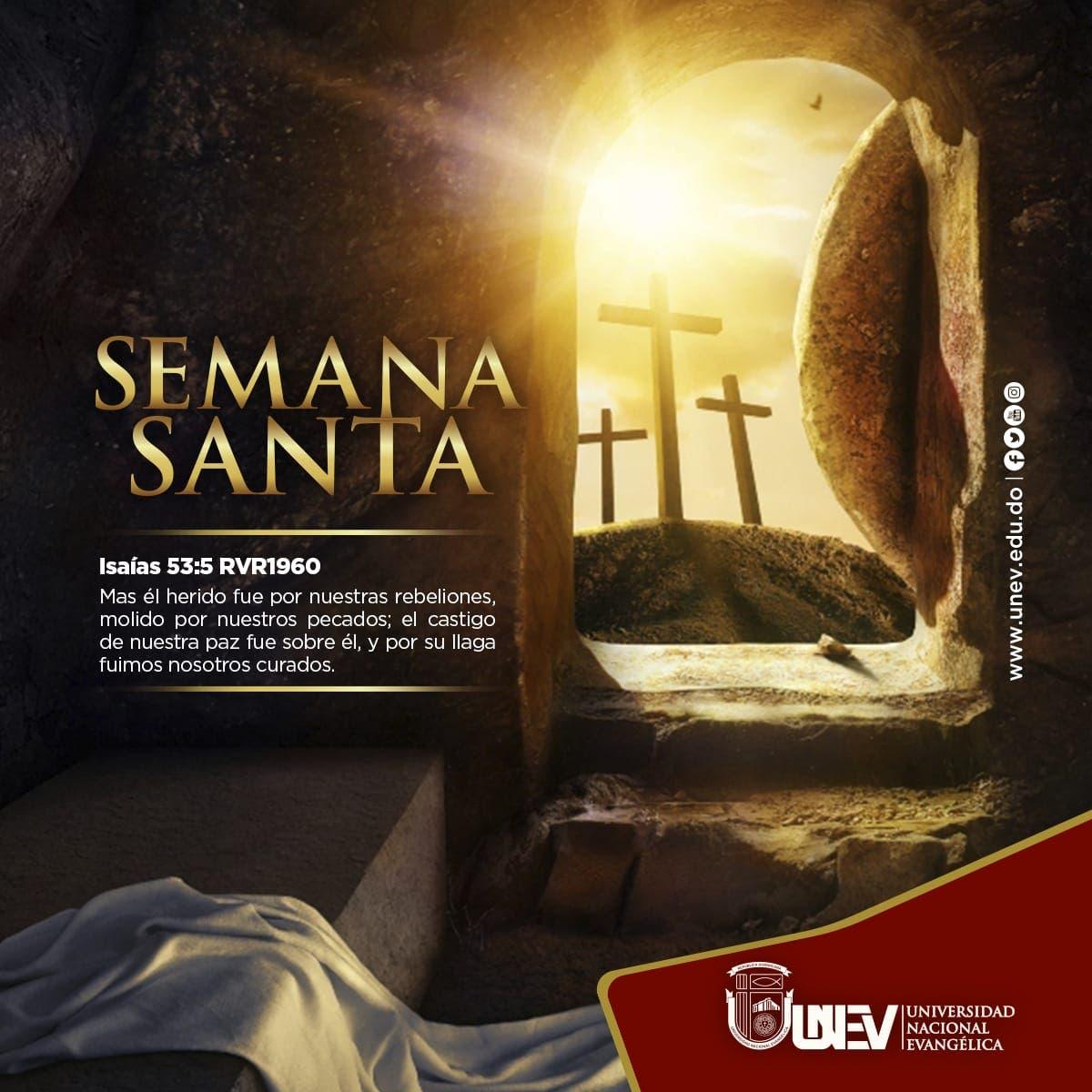UNEV llama a aprovechar Semana Santa para renovar la Fe y fortalecer la solidaridad