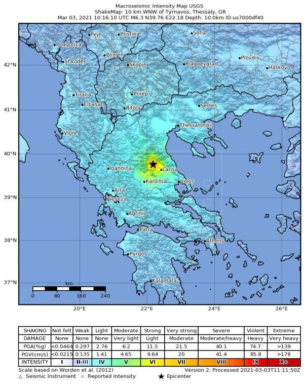 Terremoto de magnitud 6 sacude a Grecia