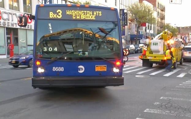 Calle 181 en el Alto Manhattan exclusiva para autobuses
