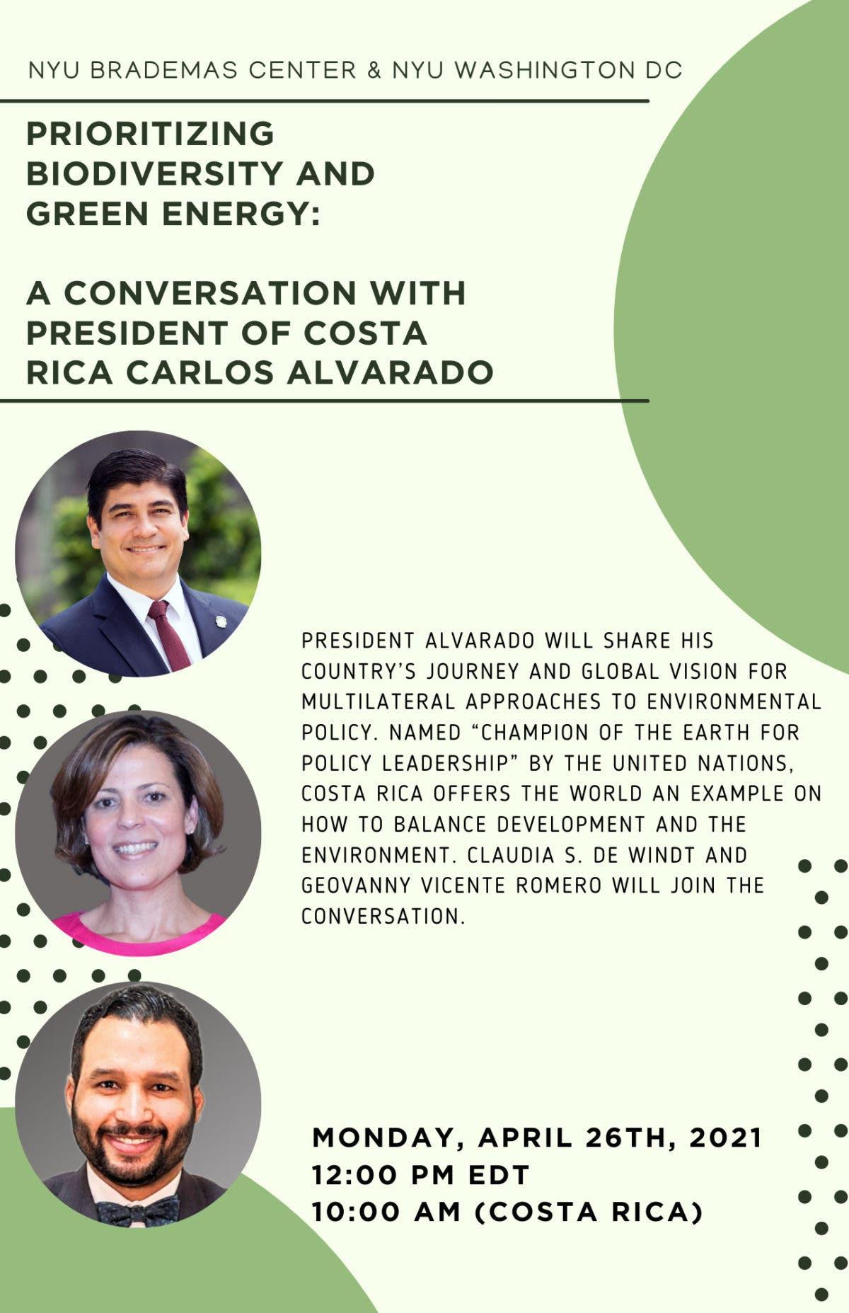 Realizarán diálogo virtual abierto sobre biodiversidad con el presidente Carlos Alvarado
