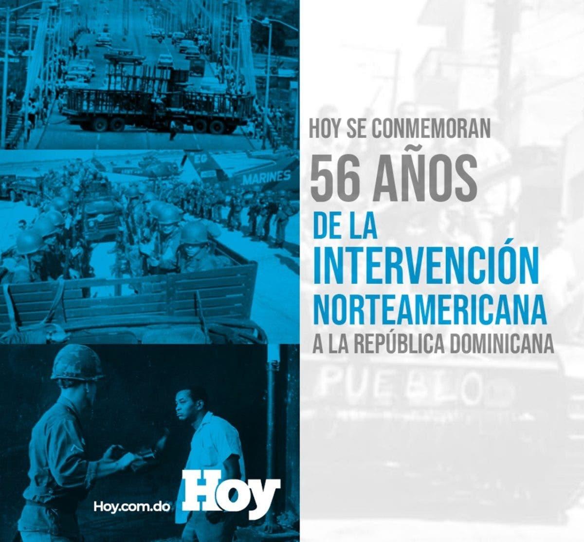 Hoy se conmemoran 56 años de la intervención norteamericana en RD