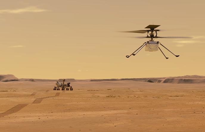 Video: Helicóptero Ingenuity hace historia al volar, por primera vez, en Marte