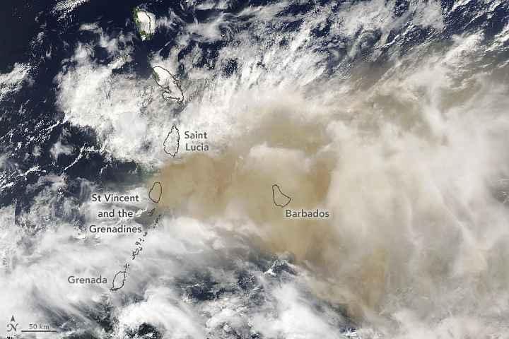 Emisión de dióxido de azufre del volcán La Soufriere no representa peligro para RD